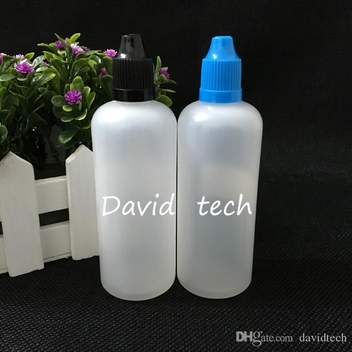 Freies Verschiffen Bunte 100ml Leerflasche Soft Style PE Kunststoff Tropfflaschen mit langen und dünnen Tipps Kindergesicherte Caps