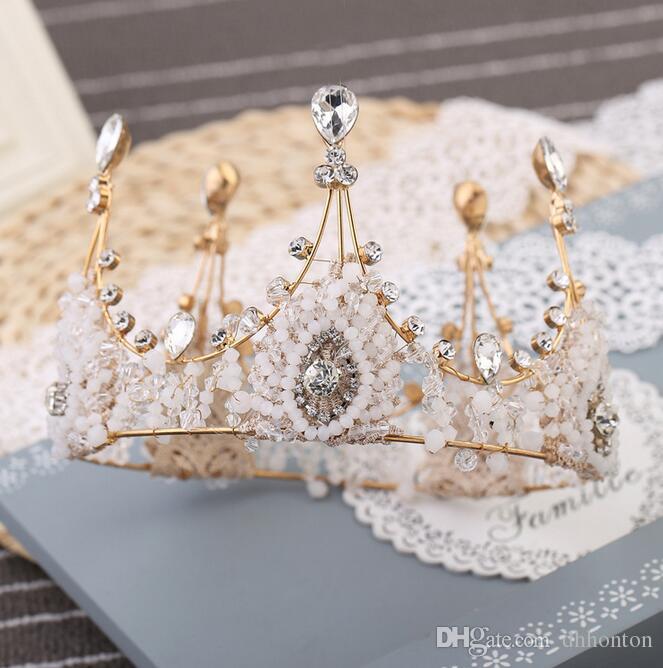luxuryCrown bridal tiaras Crystals Wedding Crown princess big full of luxury CrownHeadband Hair Accessories Party Wedding Tiara HT141