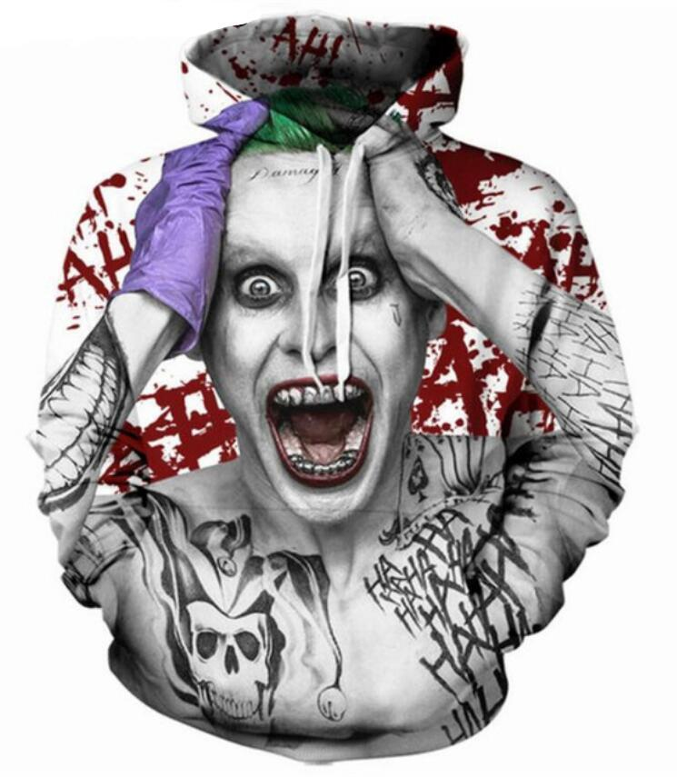 c7ade094beb4 DC Suicide Squad Harley Quinn Joker 3D Print Graphic Hoodie Sweatshirt Tops  Coat Clothing
