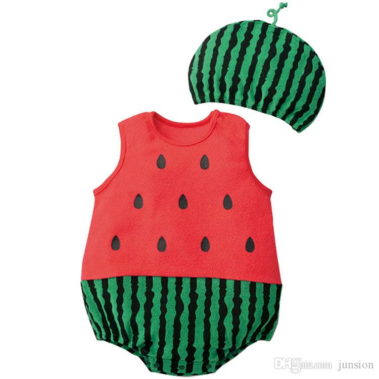 Summer Cheap Sleeveless Infant Lovely Animals, Fruit,Two-Piece Clothing Baby Boy Crawling Movement Clothing Size 0 to 24 m 2016 Summer