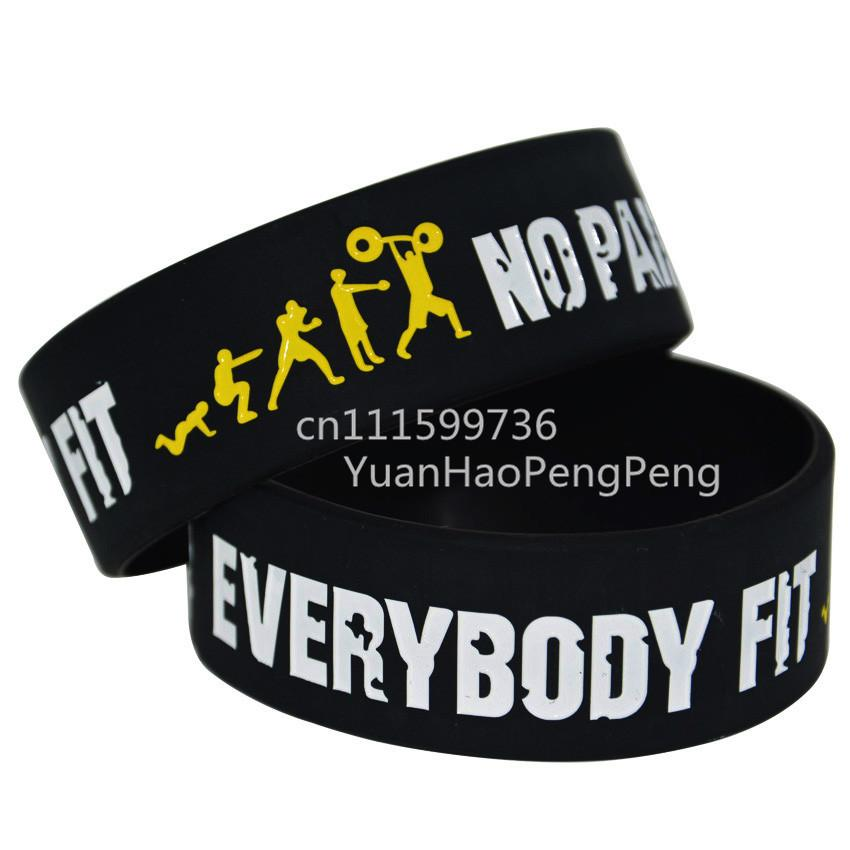Everybody Fit No Pain No Gain Silicon Wristbands, Perfect To Use In Any Benefits Gift