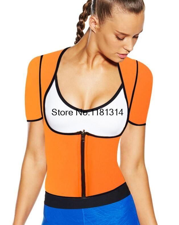 53ccd52d5d 2019 Wholesale Sexy Bodysuit Women Body Neoprene Hot Shaper Slimming Sweat  Fat Burning Underwear T Shirt Shapewear Vest Slimming Suits XS 5XL From  Stepheen