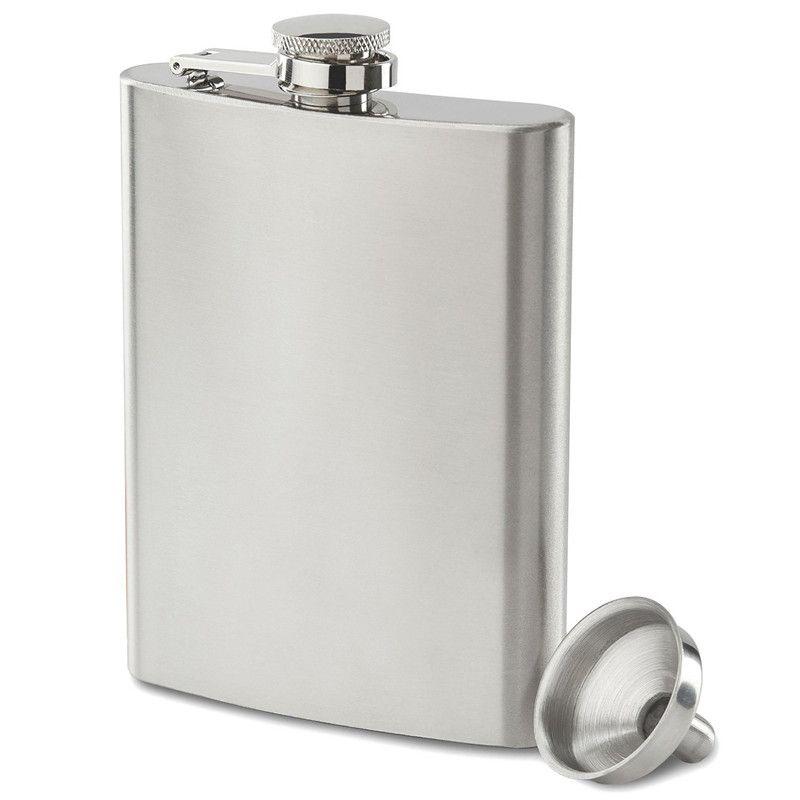 Boom Fashion 8oz Acero Inoxidable Pocket Hip Flask Retro Whishkey Frask Tapón de rosca de licor Incluye Bonus Funnel y Caja de regalo negra