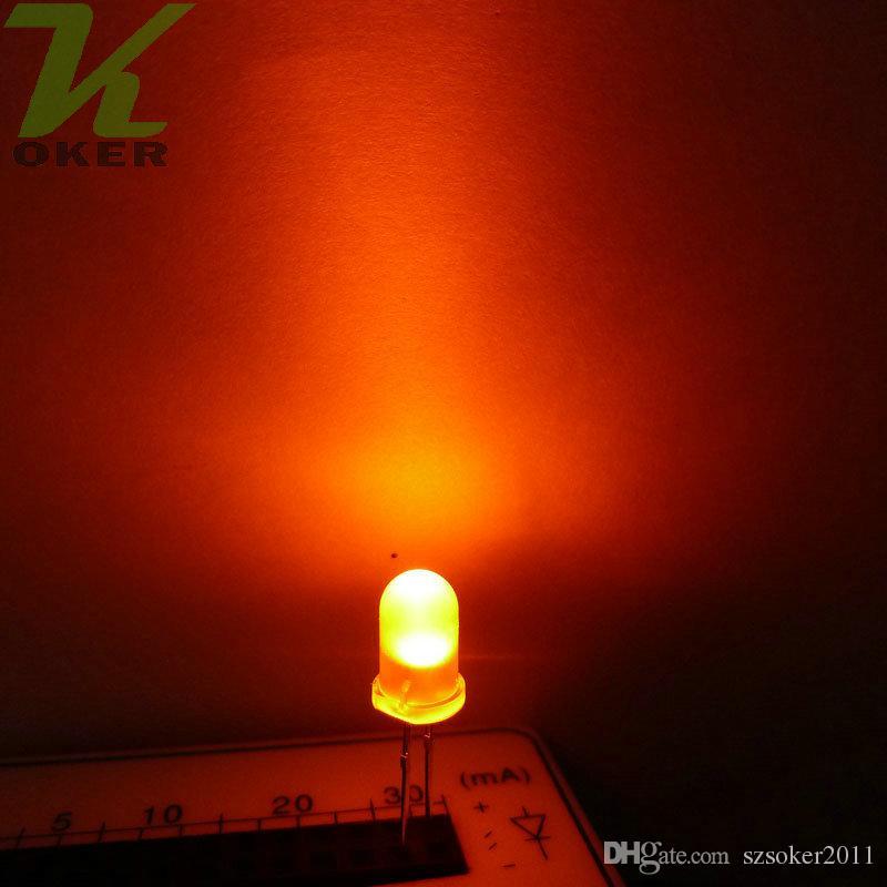 5mm 5mm Lampada a LED a LED a LED a LED a emissione diodo nebbioso nebbioso ultra luminoso plug-in kit fai da te Pratica grandangolare