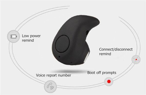 Мини Ультра-маленький S530 Беспроводные Bluetooth-наушники 4.0 Стерео Наушники-вкладыши Handsfree Спорт Наушники-вкладыши Для Iphone 7 Розничная упаковка
