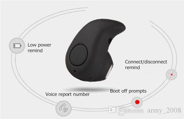 S530 наушники стерео свет Беспроводной Невидимый наушников Мини-гарнитура с Ответ и вызов для смарт-сотовый телефон Android