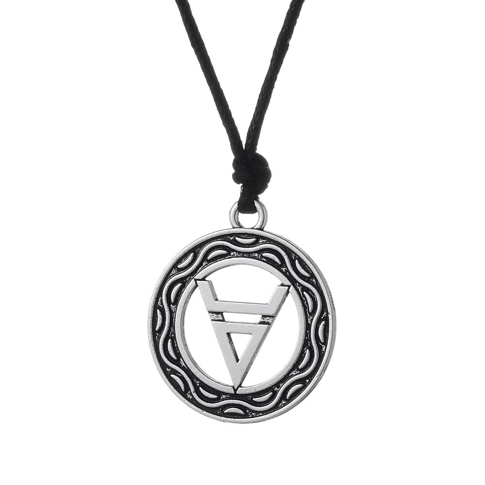 Wholesale myshape wiccan pendant necklace symbol of god veles in wholesale myshape wiccan pendant necklace symbol of god veles in the circle double layer necklace rope chain adjustable jewelry fast shipping handmade biocorpaavc Choice Image