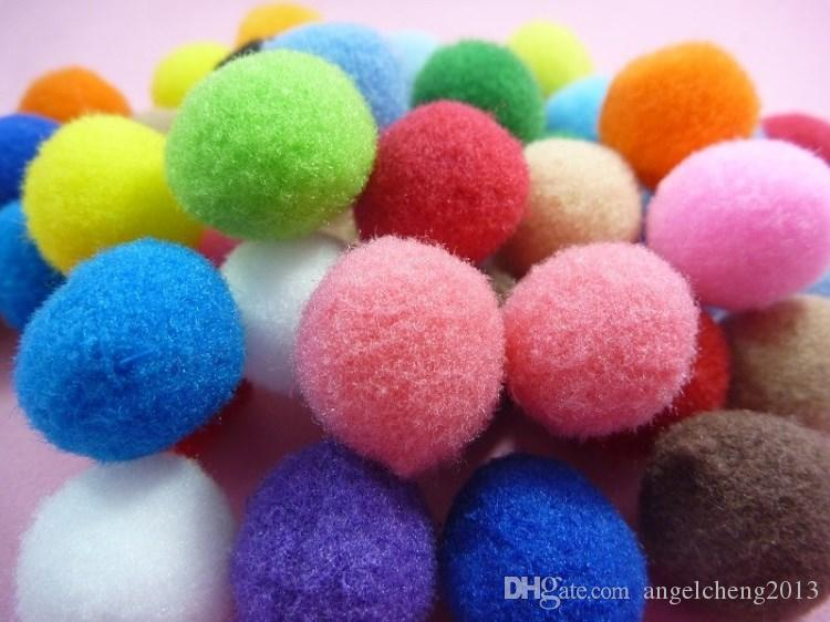 DIY Creative1.5CM Pompon Sticker Drawing Toy Handcraft Plush Painting with Fold Paper Photo Frame Baby Kid Learning Education Toy