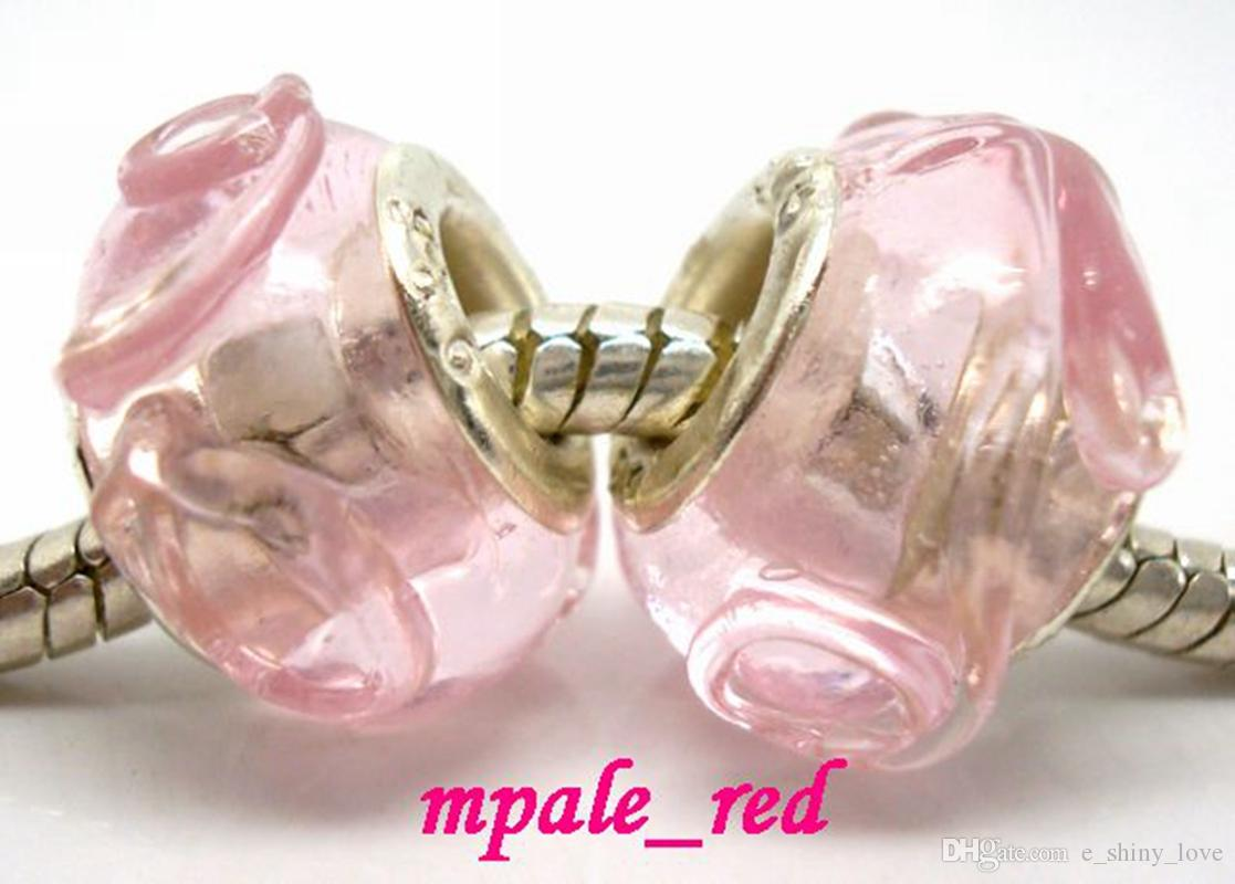 misturado rosa murano lampwork contas de vidro para fazer jóias solta charme diy contas para pulseira europeia atacado a granel baixo preço