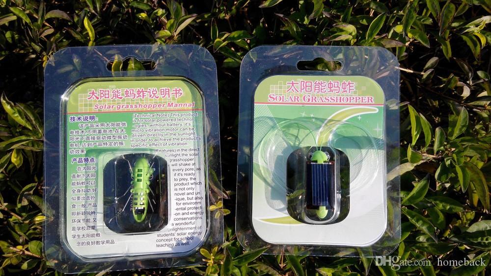 Newest Plastic Solar Energy Grasshopper Toy Best Electric Cricket For Kids Solar Education