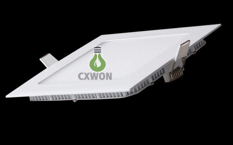 Rundes Plattenlicht dünn 3W 6W 9W 12W 15W 18W LED Deckeneinbau-Downlight-dünnes rundes Flachbildschirm-Lichtquadrat führte Instrumententafellichter