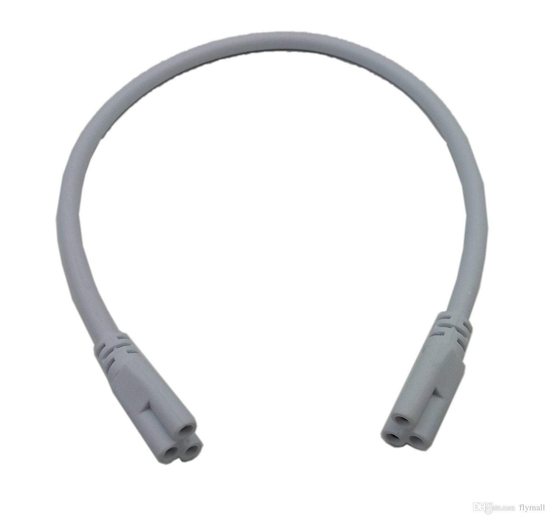 1 ft 2 ft 3 ft 4 ft 5 ft Kabel für Integrierte T8 T5 LED-Röhren Lichter Stecker Led-Verlängerungskabel Doppel-Anschluss-Kabel CE ROHS UL DLC