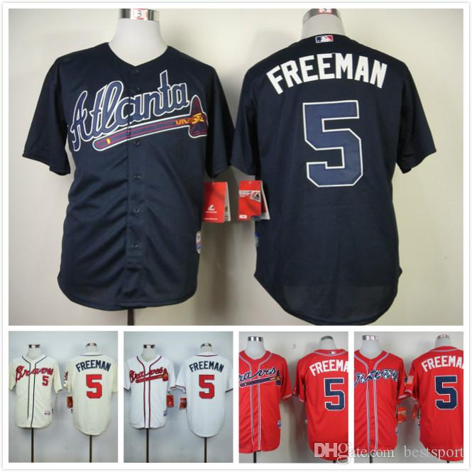 promo code 88807 357df atlanta braves 5 freddie freeman cream jersey