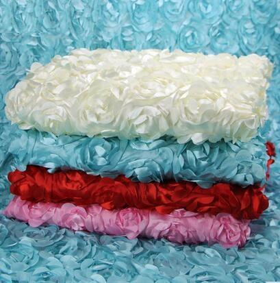 Rose Fashion Wedding Banquet Tovaglia sovrapposizioni 3D Rose Tovaglie rotonde Decorazione di nozze Fornitore tappeto matrimonio stage WT023