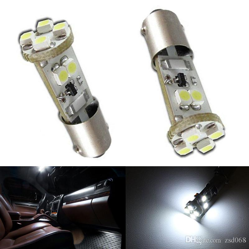 / Blanc 8SMD CANbus Sans Erreur BA9S 3528 LED Lampe Dôme Intérieur Modifié Lumière
