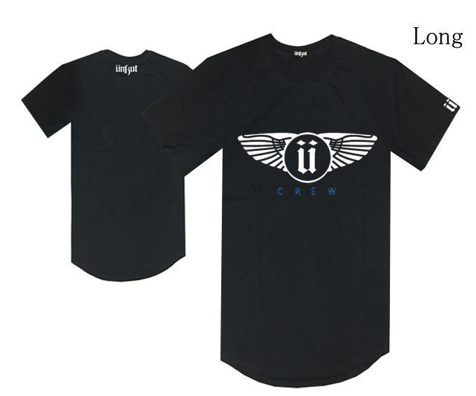 Long style unkut U logo t shirt hiphop planche à roulettes tee shirts hommes livraison gratuite mode coton vente chaude vêtements d'été