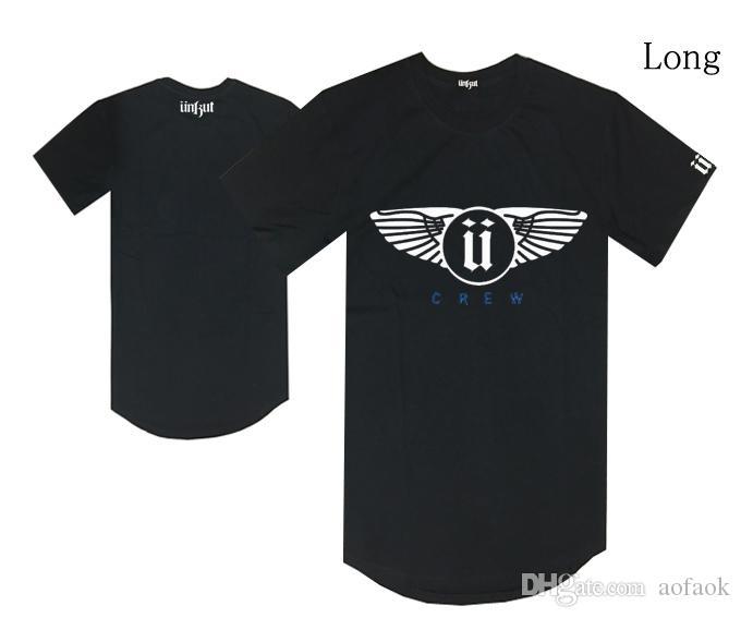 Uzun stil unkut U logosu tişörtlü hiphop kaykay tişörtlerin erkek ücretsiz kargo moda pamuk sıcak satış giysi yaz