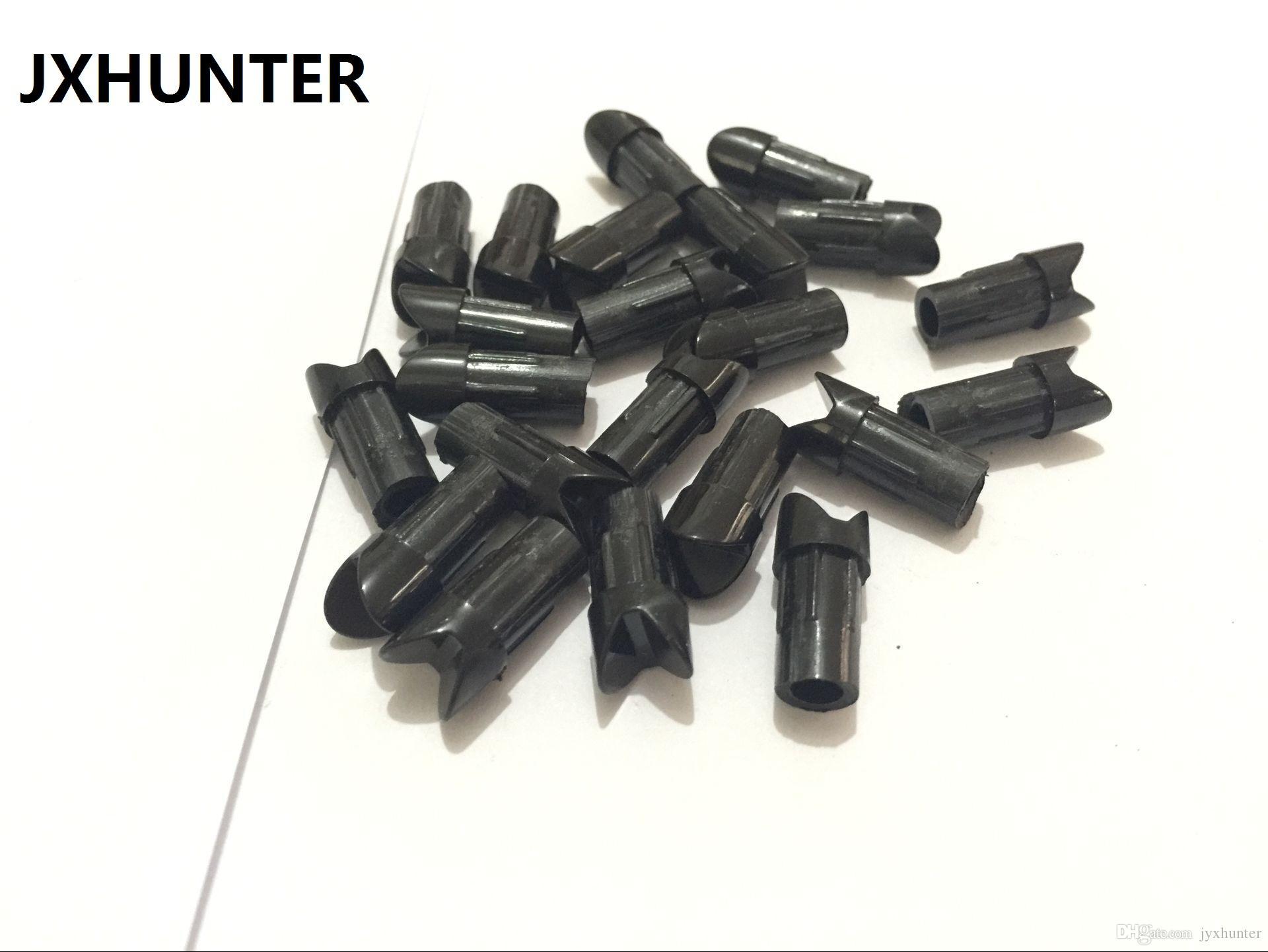 50PK embouts de flèche en plastique arrow queues pour ID 7.6mm arbalète en aluminium flèche demi-lune noir