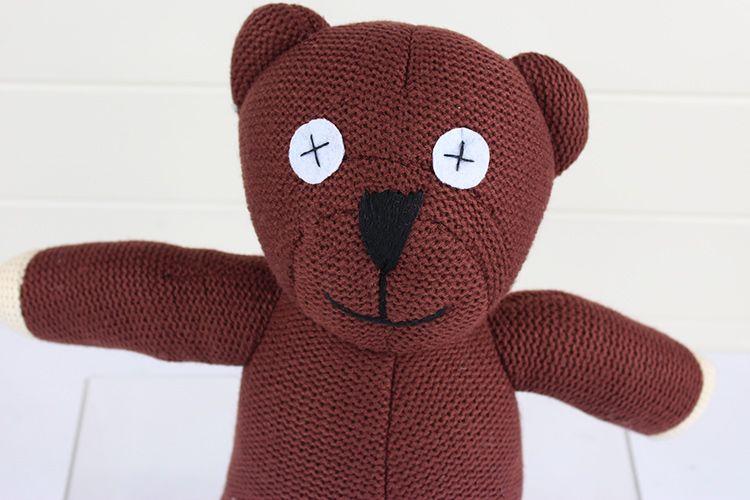 Mr Bean Teddy Bear Hayvan Dolması Peluş Oyuncak, 22 cm Kahverengi Şekil Doll Ücretsiz Kargo