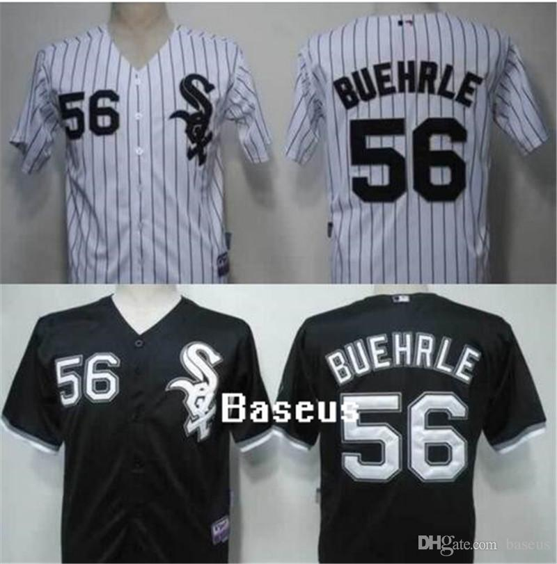 2018 mens chicago white sox jersey 56 mark buehrle baseball jersey white black gray majestic stitched cool base baseball jerseys from baseus