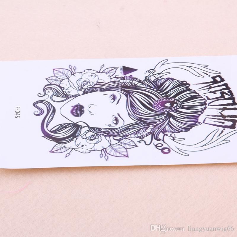 Mode Nouvelle Fille Motif Tatouage Temporaire Bras Cou Arrière Jambe Décor Body Art Amovible Tatouage Imperméable Autocollants