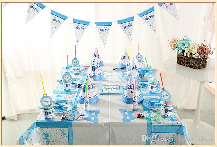 Cartoon Children Birthday Parties Baby Boys Theme Set Arrangement
