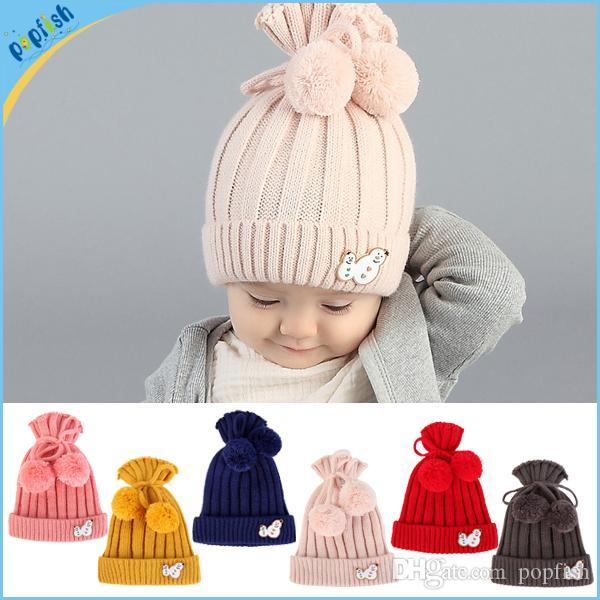 Großhandel Fashion New Styles Winter Season Fuzzy Ball Plain Kinder ...