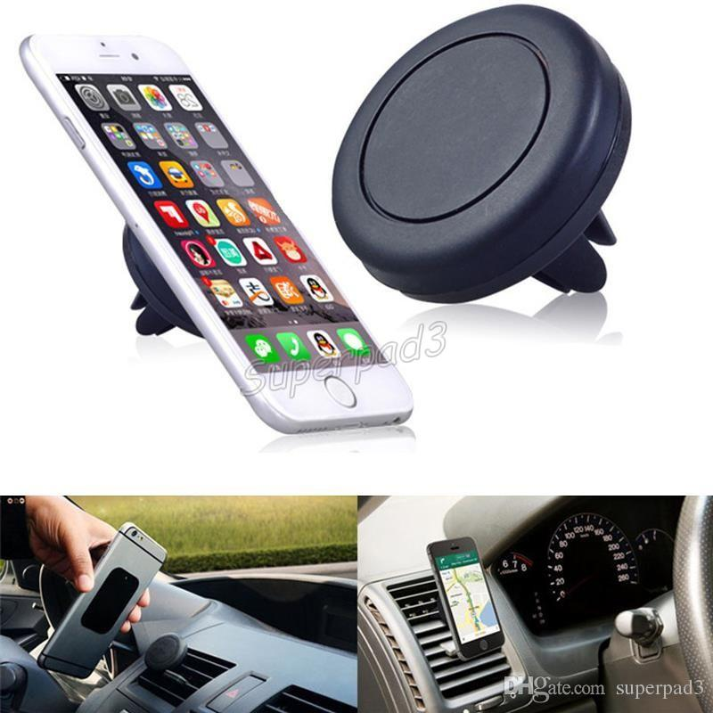 Car Holders Air Vent Magnetic Universal Mobile Phone Mounts Holders Metal Plate Super Adsorption Cell Phone Holders With Retail Package DHL