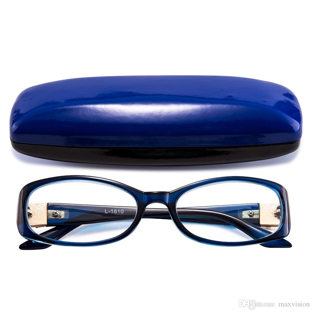 Readers Colorful Bright Design Clear Women Lady Reading Glasses Fashion  With Hard Case Blue L 1610 Heavy Duty Reading Glasses How To Select Reading  Glasses ... 1b61e34529