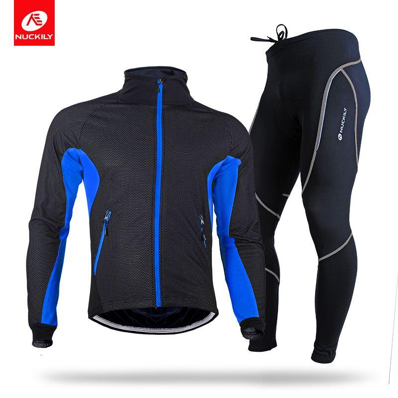 NUCKILY Men s Winter Cycling Suit Water Resistant Road Bike ... ae47ba115