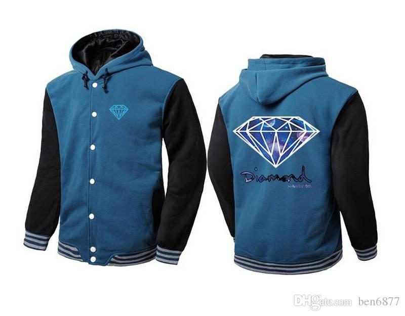 новая мода WinterAutumn мужская одежда Марка толстовка свитер досуг молния кардиган флис мужской куртки мужчины толстовки Алмаз supp