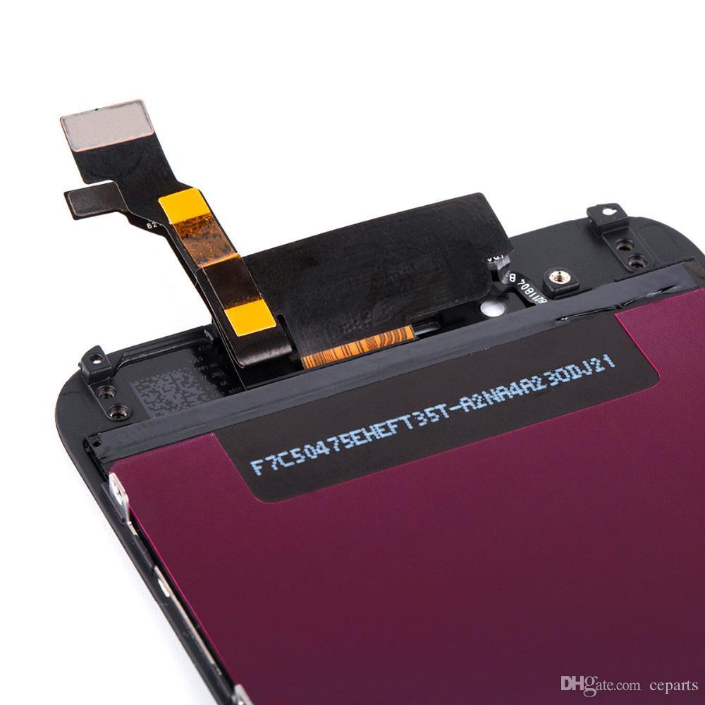 LCD Display für iphone 6 6S 7G 8G mit Touch Digitizer Komplettbildschirm mit Frame Full Assembly Ersatzteilen DHL Ship Black / White