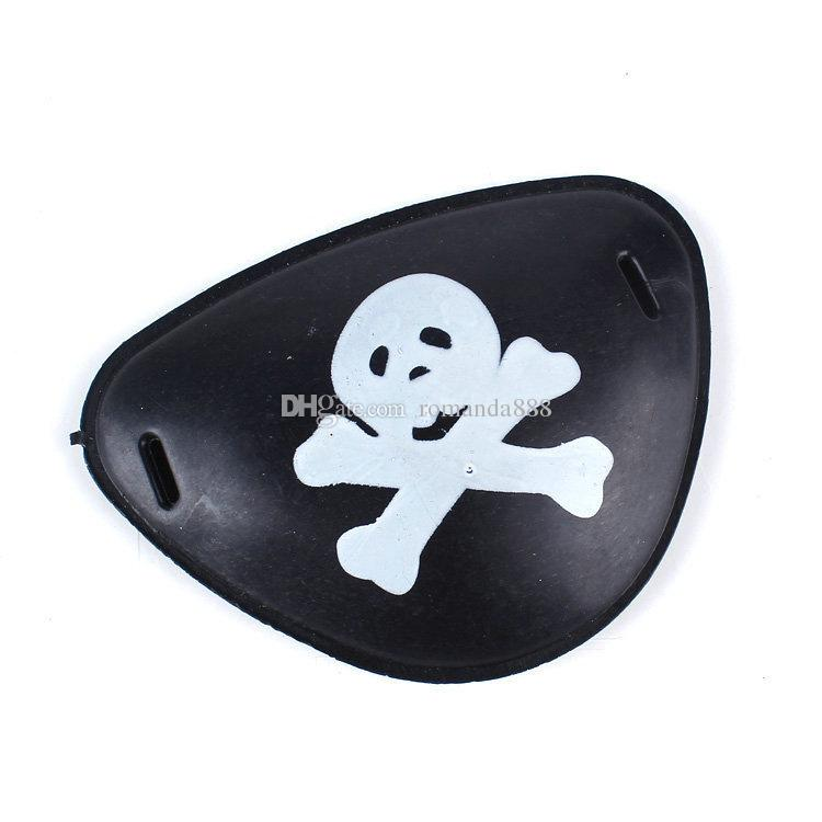 DHL Plastic pirate eye patch Halloween masquerade pirate accessories Cyclops eye patch toys Cover Eye Mask