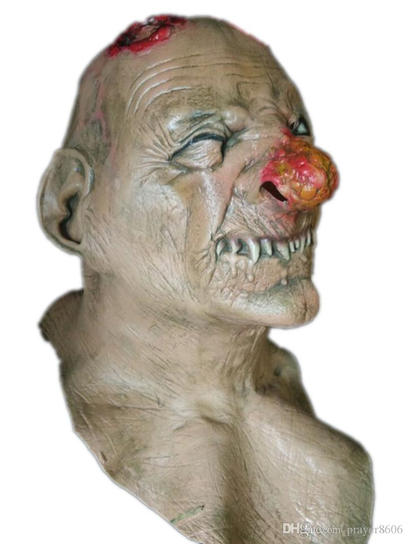 scary zombie latex mask realistic bloody head halloween costume halloween mask scary - Bloody Halloween Masks