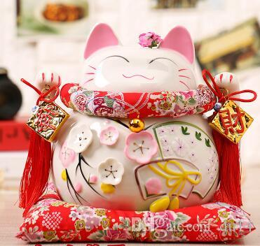 Lucky Cat Japanese TheJapaneseLucky Kyrgyzstan gold ceramic Lucky Cat ornaments large Japanese piggy bank Fortune Cat