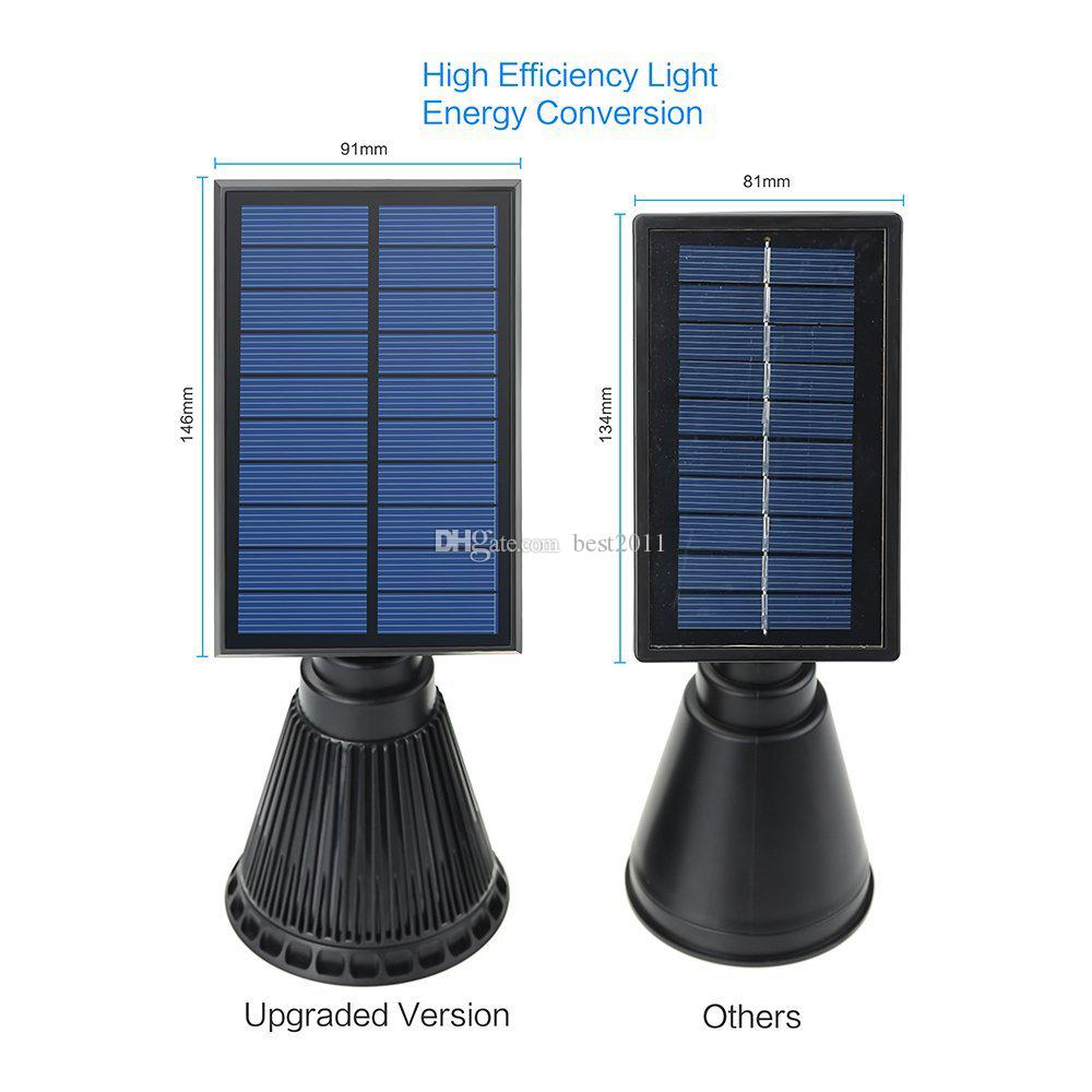 3TH Generation 4LEDs Solar Power Energy Spotlight Outdoor IP44 Waterproof Lawn Landscape Yard Decoration Lamps Solar night Light