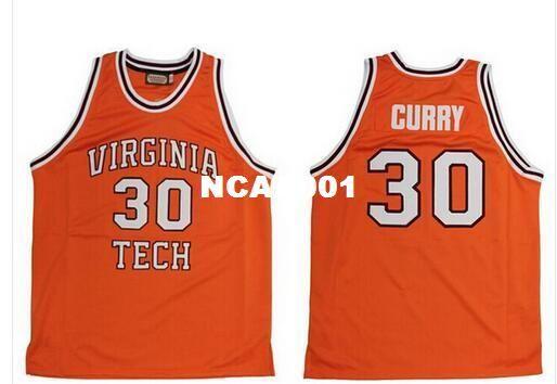 1c2ec5b51fbca 2019 Men #30 Dell Curry Jersey Virginia Tech University Hokies ...