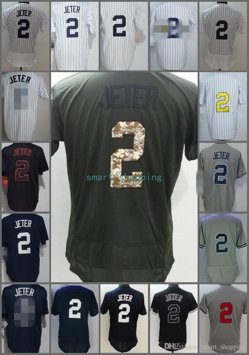 2019 2018 Flexbase  2 Derek Jeter Home Away Baseball Jersey White Blue Grey  Pinstripe Cool Base Stitched Jerseys From Smart shopping c70bcc4f38a