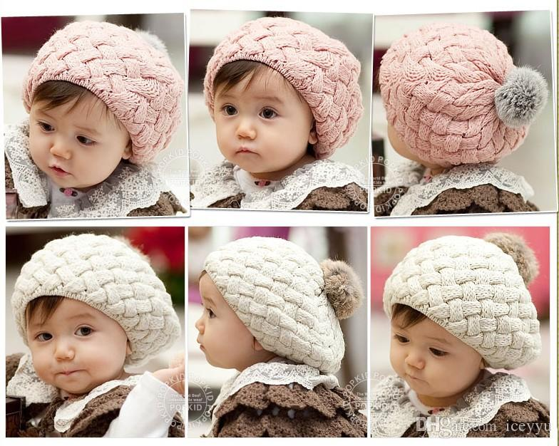 7fad6c8aead 2019 Gorros Baby Beaine Kids Winter Bonnet Hat Faux Rabbit Fur Crochet  Skullies Cap For 0 3 Years Old Girl Turbante Toucas From Iceyyu