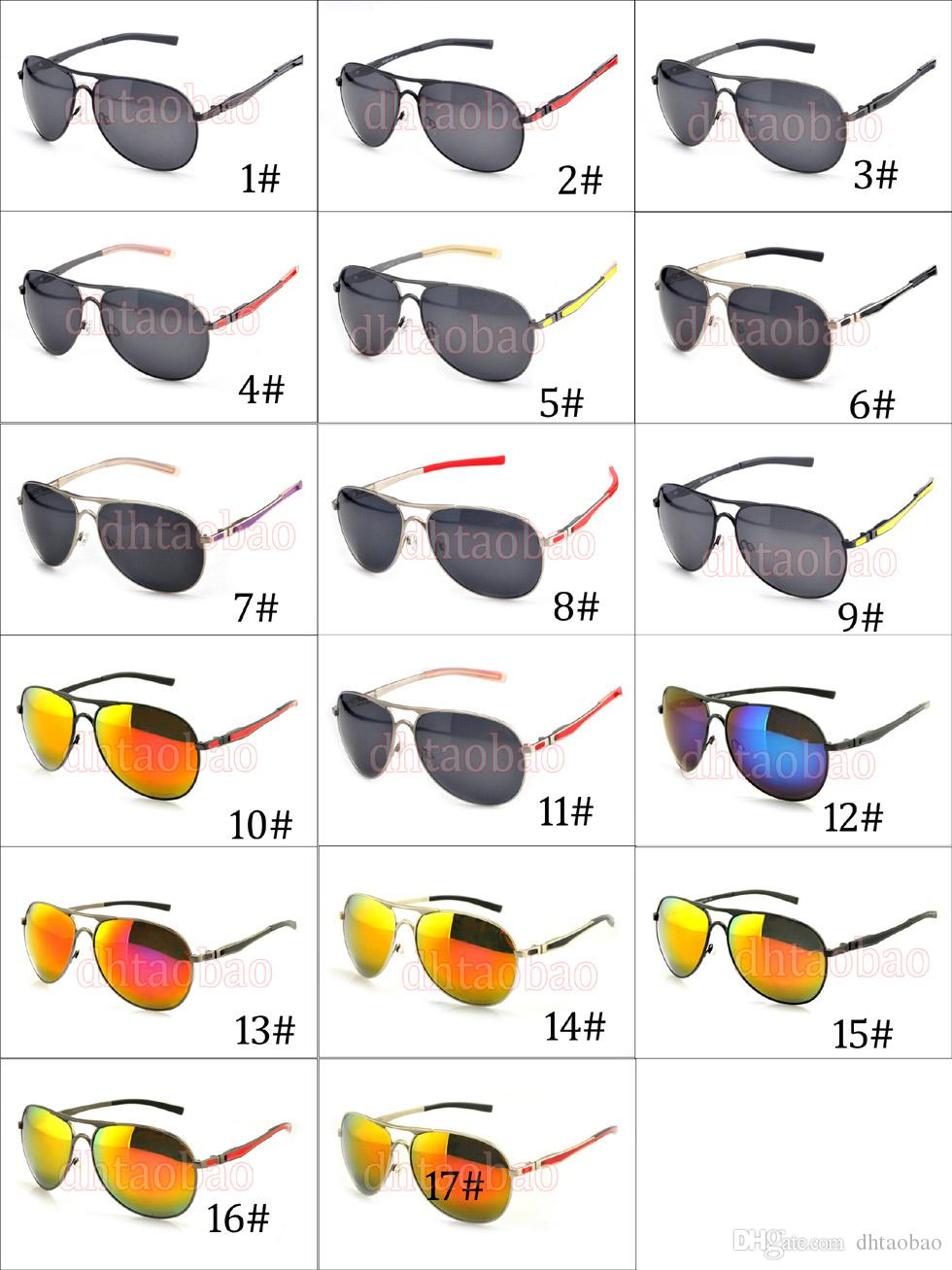 Moq=High Quality Unisex man Metal Double Nose Polarized Sunglasses +Case Goggle Driving Cycling Beach Glasses