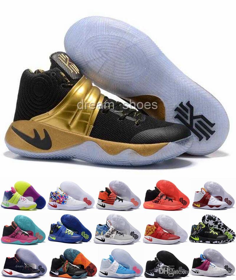 Kyrie Herren Irving Usa Triple 2s Champion 2016 Schuhe 2 Basketball Gold Schwarz Black Sneakers 3Rj54AL