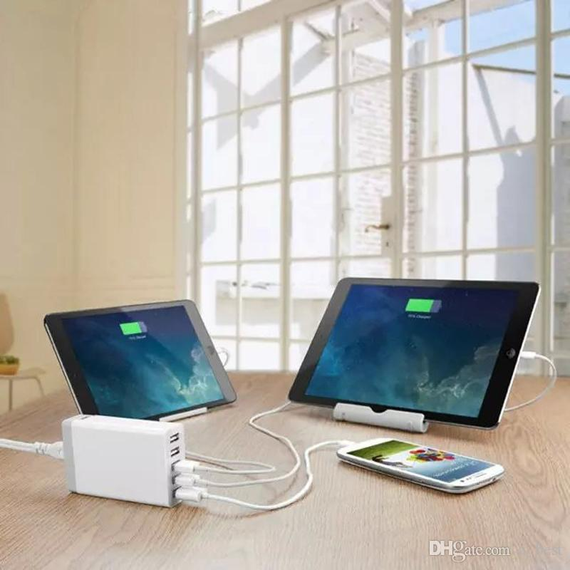 Schnellladestation Dock 5 USB-Anschluss USB 3.0 Desktop-Ladegerät 5V / 8A für iPhone 7 iPad Air Smartphones Tablets