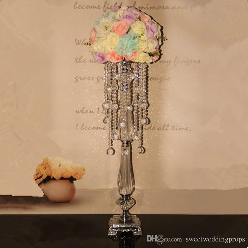 무료 배송 50cm 높이의 꽃꽂이 행사장 도심 촛불 양초 스탠드 웨딩 촛불 촛대