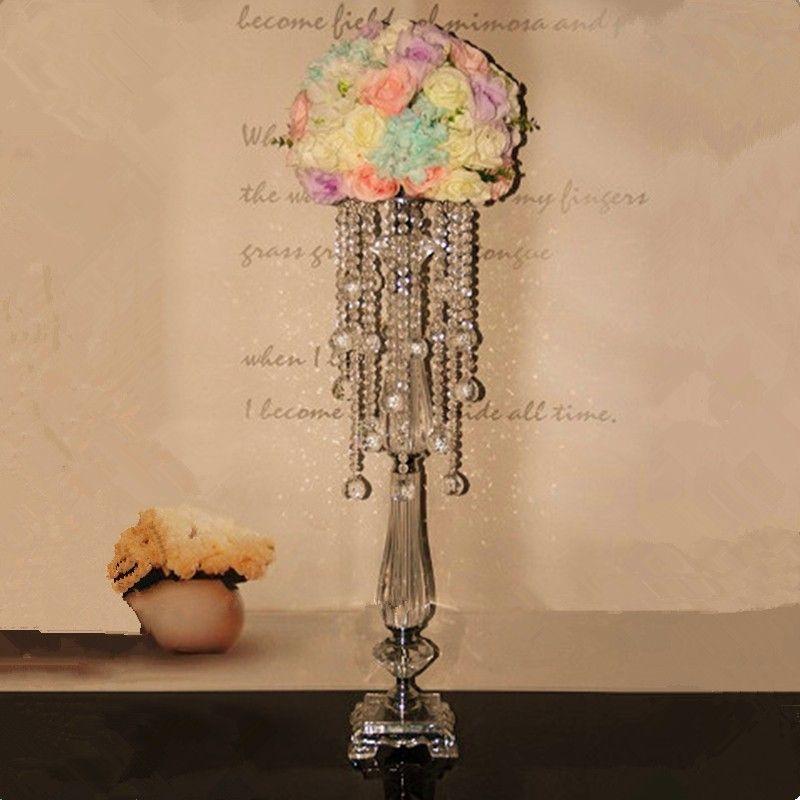 Neue Ankunft 40 cm hoch 18 cm Durchmesser Acryl Kristall Hochzeit Straße Blei Hochzeit Herzstück Ereignis Party Dekoration