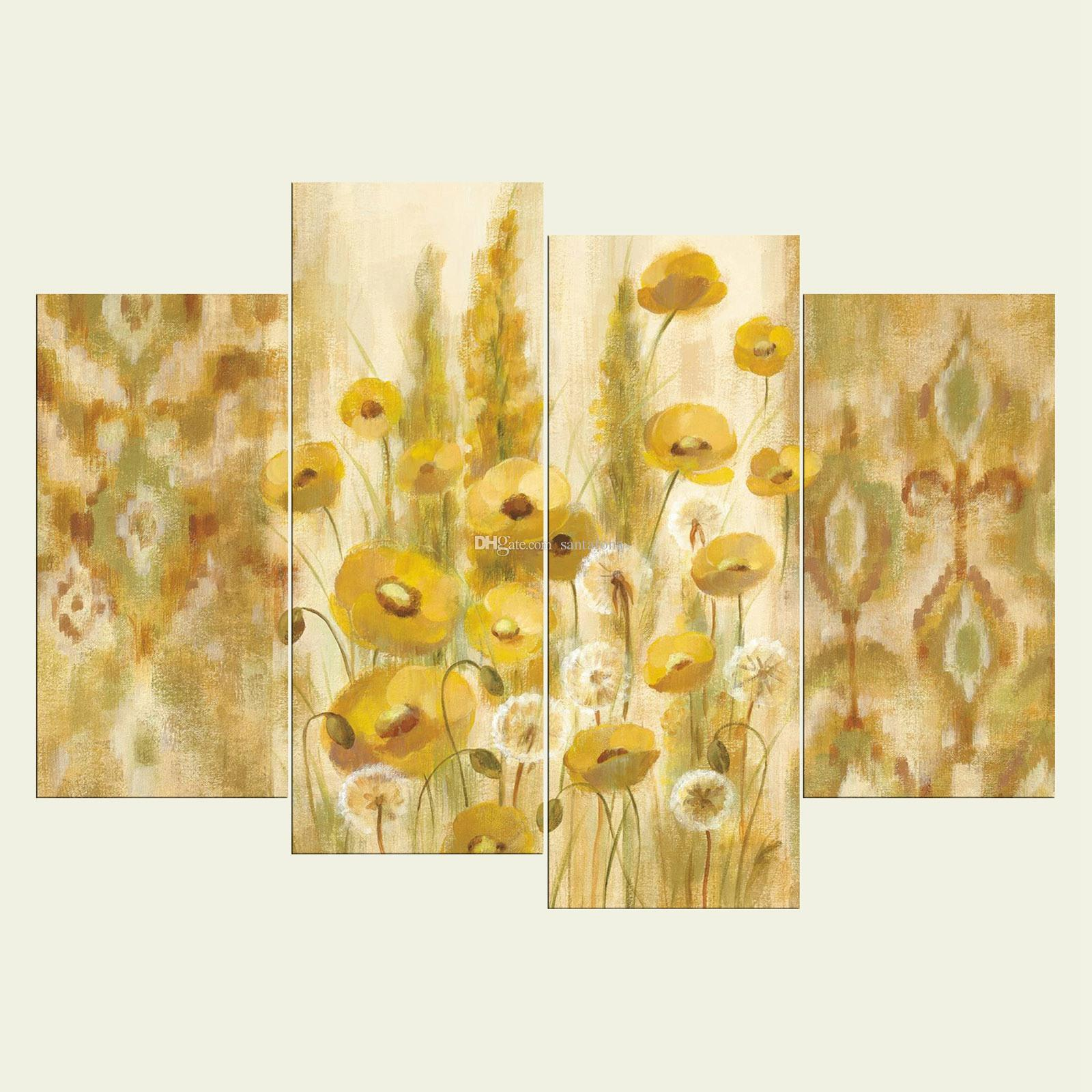 No Frame Flowers Five Series HD Canvas Print Wall Art Oil Painting ...