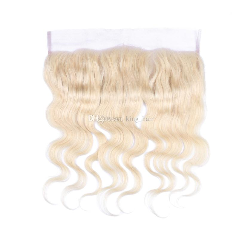 New Arrival Blonde 613 Ear To Ear Lace Frontal With Hair Bundles Brazilian Hair Weaves With Lace Frontal With Baby Hair Cheap Price