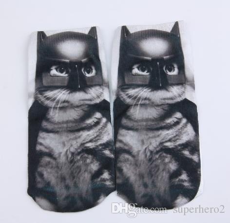 Las mujeres ocasionales de moda de corte bajo tobillo calcetines de algodón impresos en 3D Lady Girls suaves de dibujos animados zapatillas calcetín 467 patrones para elegir regalo