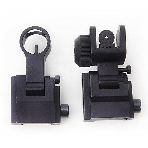 tattico libero di trasporto Arms ingranaggi di precisione AR15 flip frontale e posteriore Back up vista flip Backup frontale posteriore vista del ferro Set