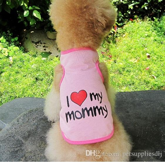 Y3 2016 Summer Pet Dog T Shirt Clothes Cute Sweetheart Vest Shirts Clothing for Dogs Cats Pet Products