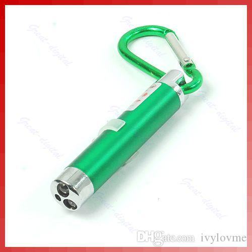 Best holiday lights 3 in1 LED Mini Flashlight Aluminum Alloy Torch with Carabiner Ring Keyrings mini Flashlight Red Laser Pointer